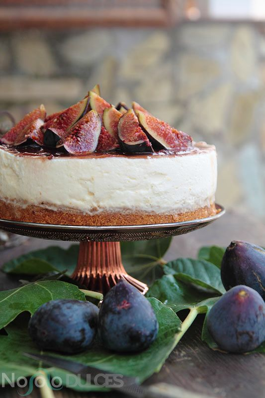 Receta de tarta de queso con higos y miel - Honey and fig cheesecake recipe