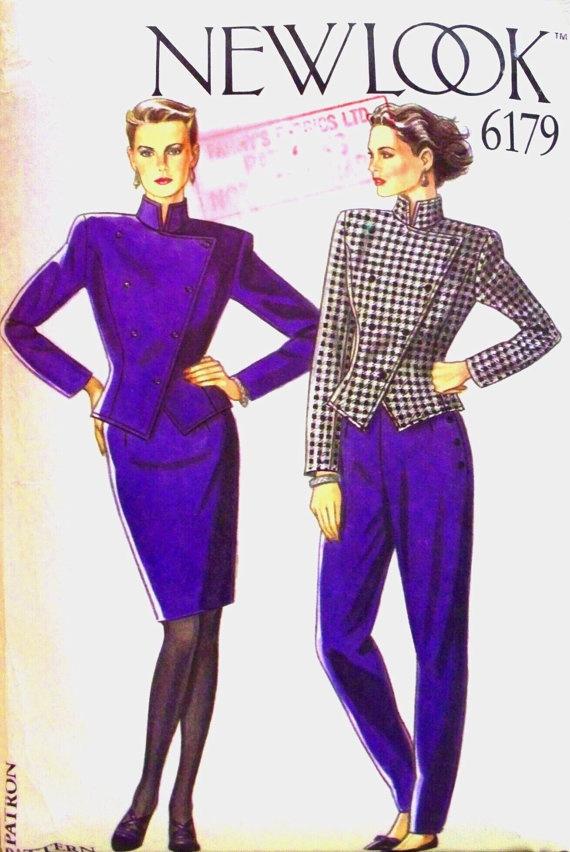new+look+pattern+6179++misses+jacket+skirt+by+thewildstrawberries,+$15.00