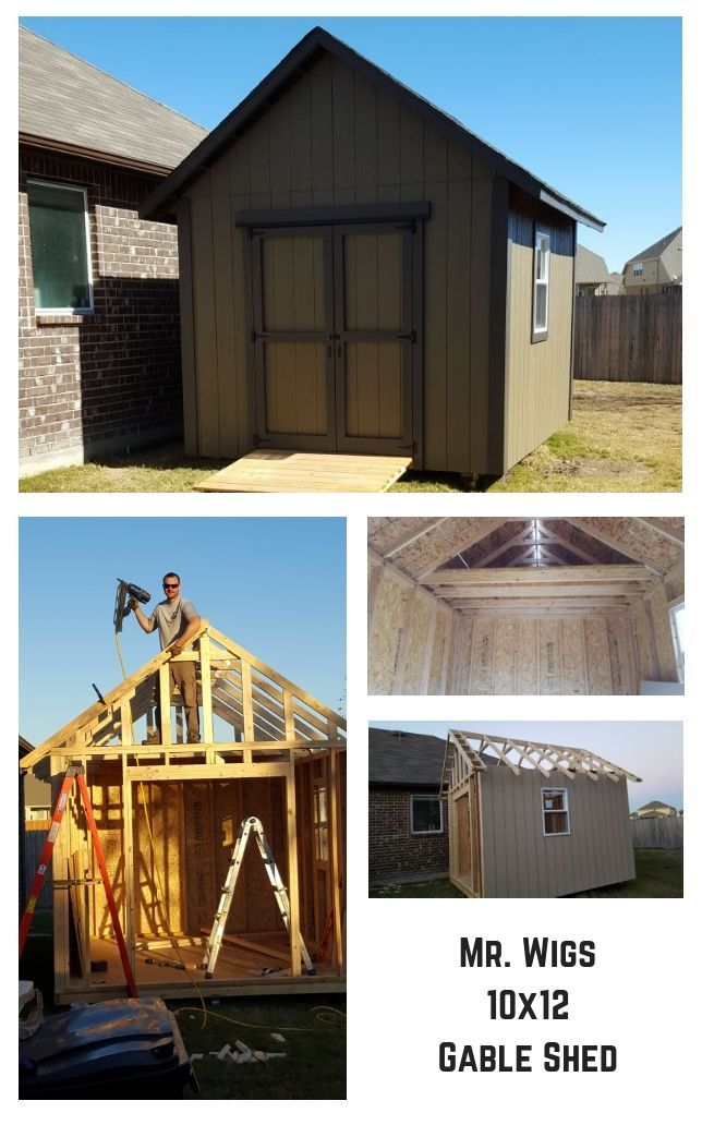 10x12 Gable Shed Plans Building A Shed Shed Homes Shed Plans