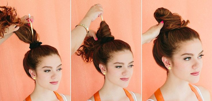 Очень просто способ сделать пучок из волос
