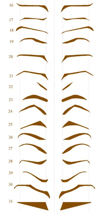 picture relating to Eyebrow Template Printable known as Maximum Layout Suggestions Cost-free Printable Eyebrow Stencils Pics