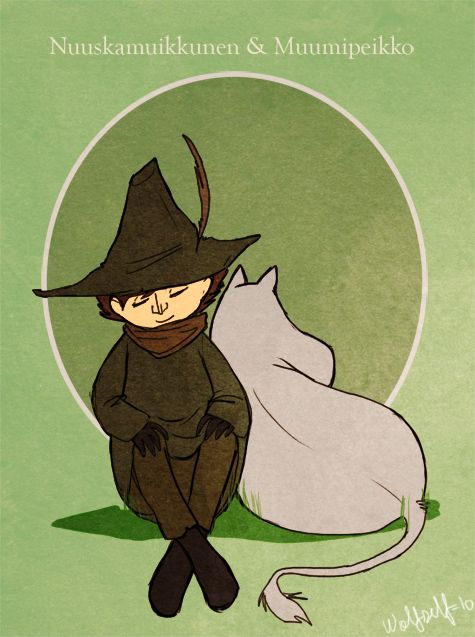 Snufkin and Moomintroll by Stumppa.deviantart.com on @DeviantArt