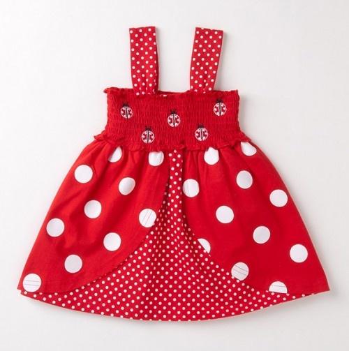 Toddler Smocked Ladybug Dress - $16.49