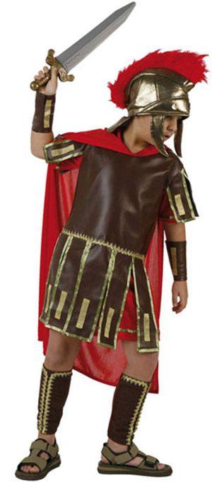 Römer-Kinderkostüm braun-gold-rot , günstige Faschings  Kostüme bei Karneval Megastore, der größte Karneval und Faschings Kostüm- und Partyartikel Online Shop Europas!