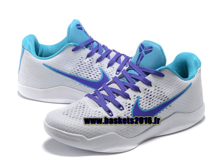 Nike Kobe 11 Elite Low Chaussures Nike Baskets 2016 Pas Cher Pour Homme Bleu / blanc / violet