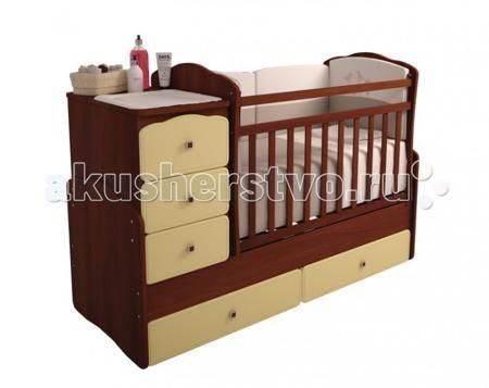 Фея 2150  — 10050р. --------------------------------------------  Кроватка-трансформер Фея 2150  Удобная трансформация в кровать для подростка, когда ребенок вырастет из простой кроватки.  Кроватка Фея 2150 венге-бежевый Жирафик сделана из экологически чистых материалов и покрыта безопасным лаком. Трансформеры 2150 имеют большой диапазон расцветок и подойдут, в первую очередь, для квартир с небольшой площадью, она очень компактна и функциональна. Кроватка для новорожденных оснащена…