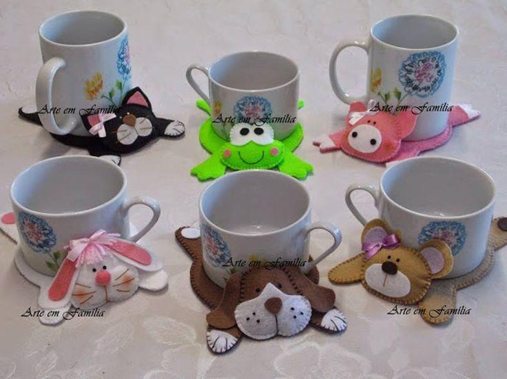 Divertidos posa tazas para los ni os manualidades tela for Tazas para espresso