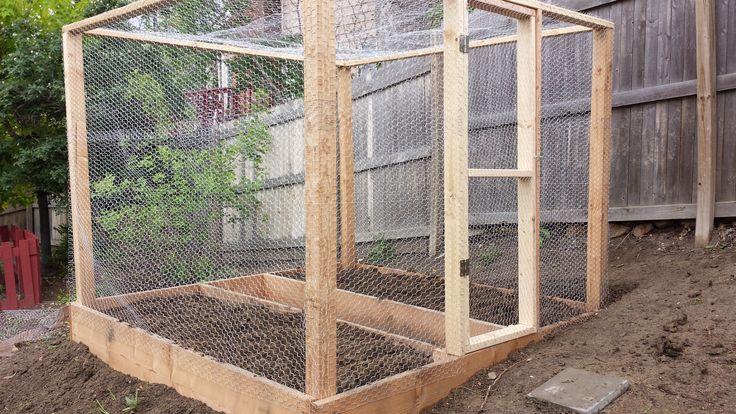 Squirrel Proof Garden Box Covered In Chicken Wire Being
