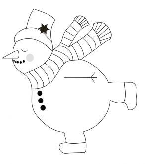 "Форма ""Снеговик на коньках"""