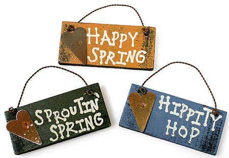 pictures primitive easter crafts | Primitive Spring Signs