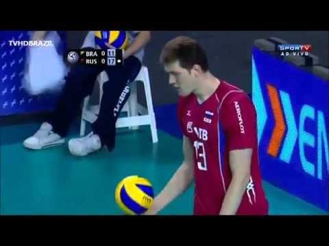 YouTube - Brazil vs Rússia - 1º Set - Fase Final - Liga Mundial de Volei 2013