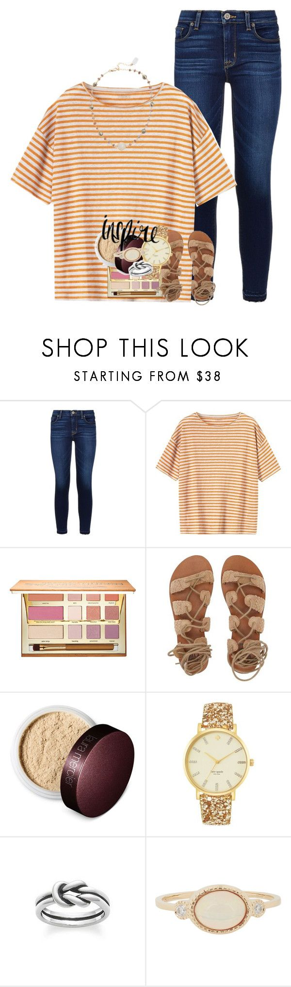 """""""surprise surprise your girl is watching grey's again (:"""" by emilyandella ❤ liked on Polyvore featuring Hudson, Toast, tarte, Billabong, Laura Mercier, Kate Spade, Avery, Jennie Kwon and Ela Rae"""