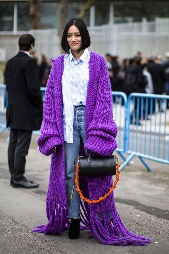 Oversized sweater | purple | street style |