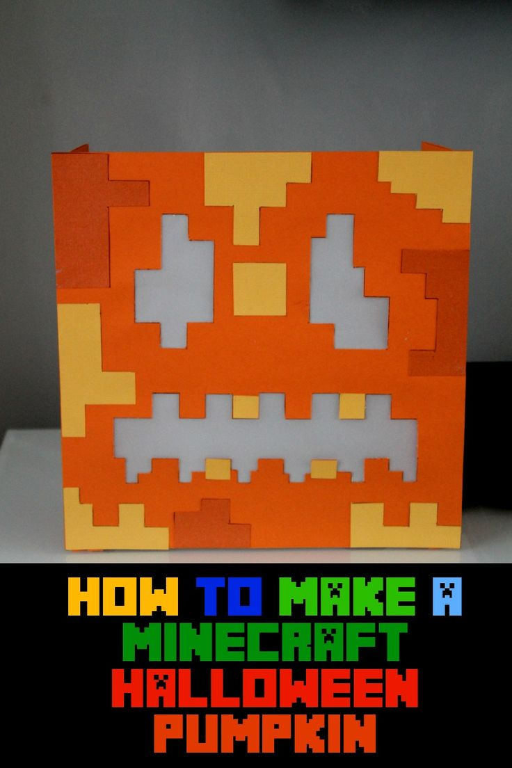 Learn how to make this awesome and spooky looking paper craft Halloween Minecraft Paper Pumpkin Inspired by my Gameband / Halloween Ideas for Kids