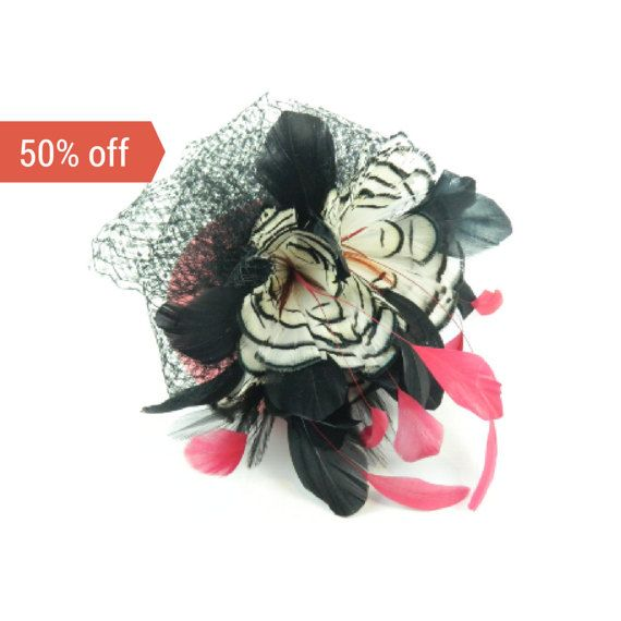 SALE Pillbox Headpiece Hat Statement Fascinator by ElleSantos