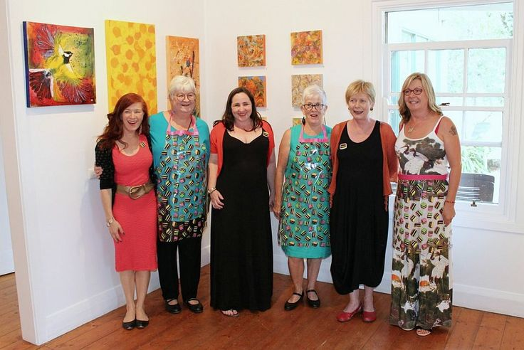 The artists at the opening - Allsorts exhibition 19 March - 12 April 2015, Strathnairn Arts