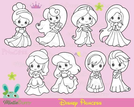 Princess Stamp Disney Princess Coloring Page Disney Princess Digital Stamp Planner Stickers Instant Download Disney Princess Coloring Pages Princess Coloring Pages Disney Princess Colors