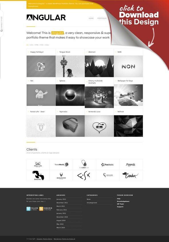 Angular - Responsive Portfolio artwork, bbpress, designer, flexible