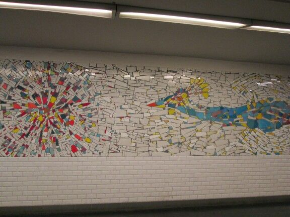 paris gare du nord metro, 1980s mural charles marechal