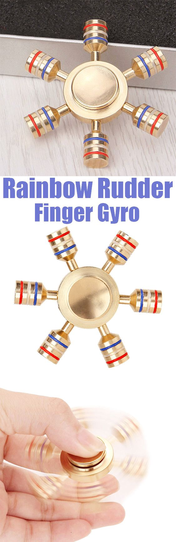 $7.13 Stress Relief Toy Rainbow Rudder Finger Gyro