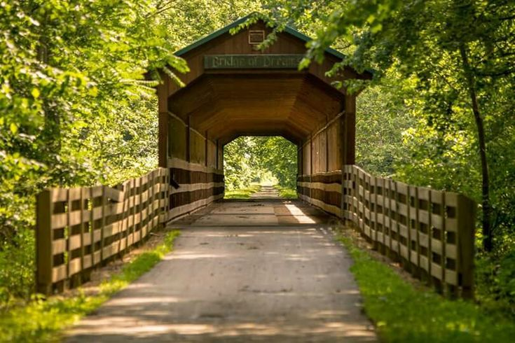 Bridge of Dreams at Honey Run. Ohio's longest covered bridge.