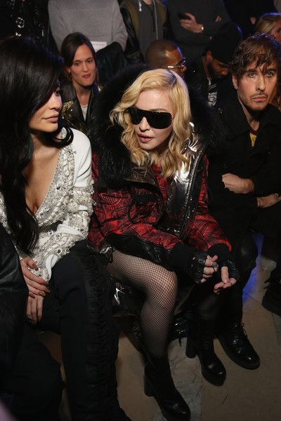 Madonna Photos Photos - Kylie Jenner and Madonna attend the Philipp Plein collection during, New York Fashion Week: The Shows at New York Public Library on February 13, 2017 in New York City. - Philipp Plein - Front Row - February 2017 - New York Fashion Week: The Shows