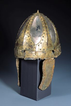 Spangenhelm from the princely burial of Bad Kreuznach-Planig, 5th-6th century, Landesmuseum Mainz