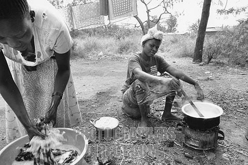 women cooking outside: Women Cooking, Daily Life