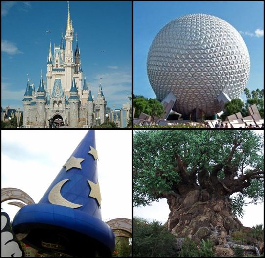 The parks in Disney World; Magic Kingdom, Epcot, MGM Studios and Animal Kingdom. Already been there, but I want to go back!