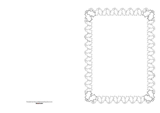 Christmas Card Border Templates For Rubber Stamping