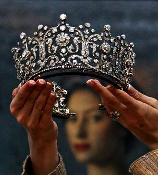 Princess Margaret wore this tiara at her 1960 wedding to Mr. Antony Armstrong-Jones. Called the Poltimore Tiara, it is a Garrard design created in the 1870s for Florence, Lady Poltimore, the wife of the second Baron Poltimore (Treasurer to Queen Victoria's household from 1872-1874).