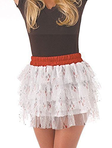 I love suicide squad halloween costumes as they are creepy, twisted and super wicked. My favorite is Harley quinn but I also love the joker, katana, deadshot and of course killer crock Halloween costumes. Secret Wishes DC Comics Justice League Superhero Style Adult Skirt with Sequins Harley Quinn, Red, One Size
