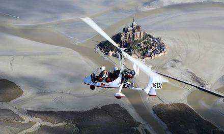 Baptême de l'air en ULM autogire au dessus de Fougères et du Mont St Michel dès 49,99 € avec Fougères ULM: #LANDÉAN En promotion à 49.99€.…