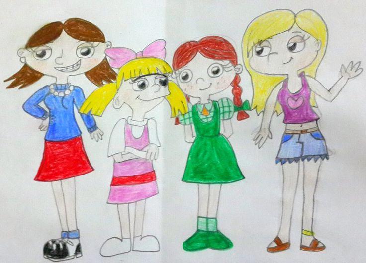 hey arnold DeviantArt helga pataki ruth p. mcdougal lila sawyer summer girls.