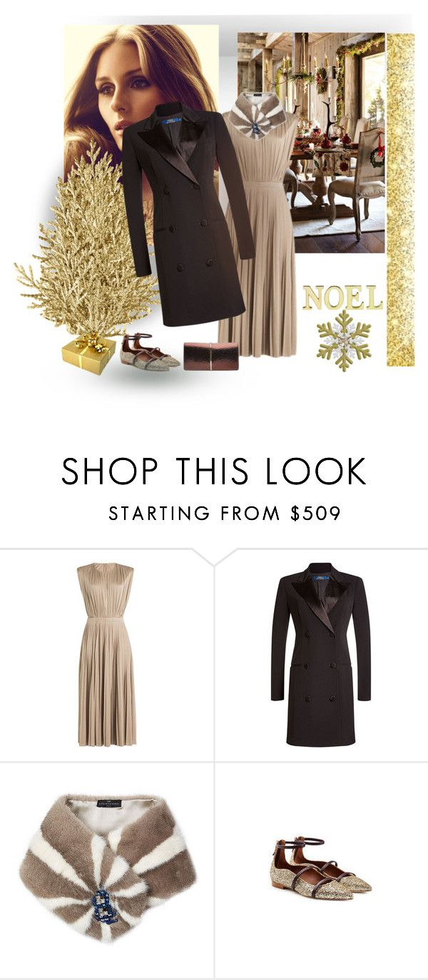 """Natale dorato"" by gagenna ❤ liked on Polyvore featuring Polo Ralph Lauren, Anya Hindmarch, Malone Souliers, Nina Ricci, Laura Ashley, golden, ralphlauren, NinaRicci, stylebop and fashioning"