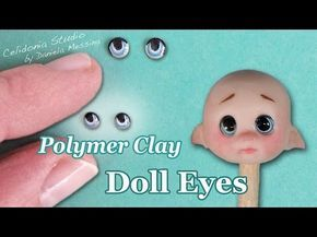 OOAK Doll Eyes: Painting Method - Polymer Clay Tutorial - YouTube