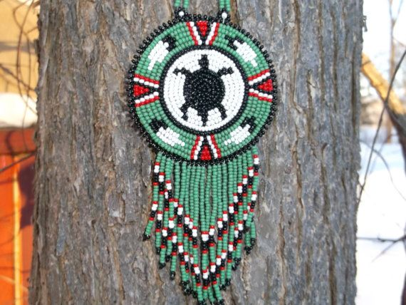 Native American Turtle Necklace Pow Wow Turtle Necklace