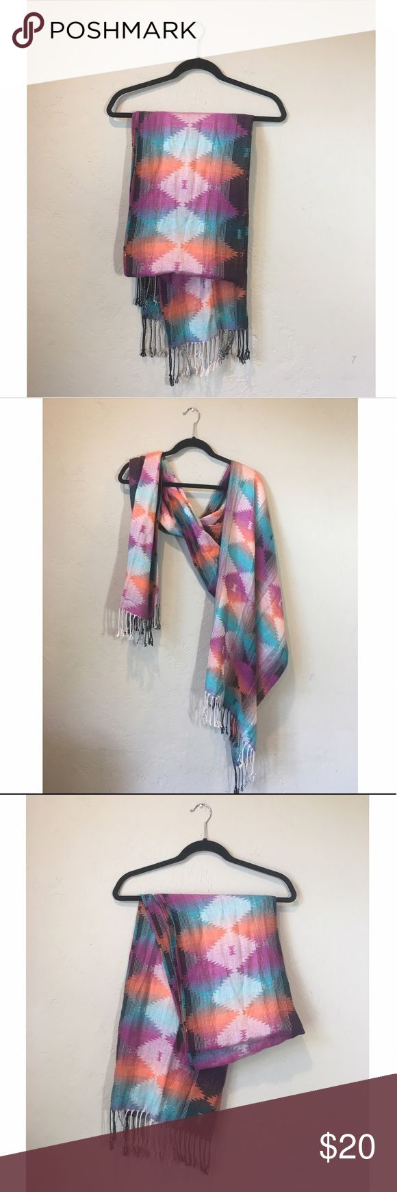 Beautiful large scarf. Very good condition. Soft and smooth. Large size & can be worn many different ways. Beautiful pattern. Accessories Scarves & Wraps
