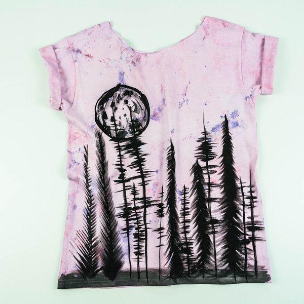 Koszulka Pink Forest/Las - Martwestudio - Koszulki z okrągłym dekoltem
