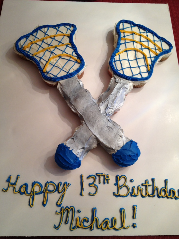 Cool #lacrosse cupcake cake my friend made!