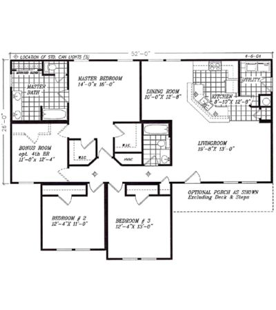 Optional 4 bedroom 1742 square feet make laundry room - Clayton homes terminator 4 bedroom ...