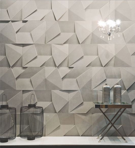 Scaleno concrete wall covering by designed by Brazilian firm Castelatto -