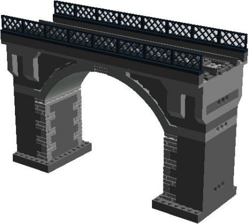 Stone Railway Bridge: A LEGO® creation by Murdoch 17 : MOCpages.com