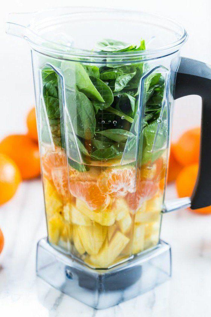 recettes smoothies rapides et faciles pour bien commencer la journée, recette de smoothie aux fruits et aux légumes