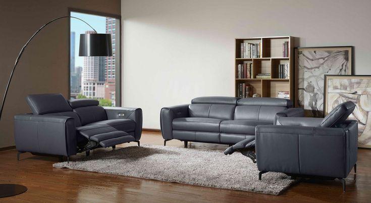 London Motion Sofa Set In Caramel Leather Living Room Set Living Room Leather Modern Recliner Sofa