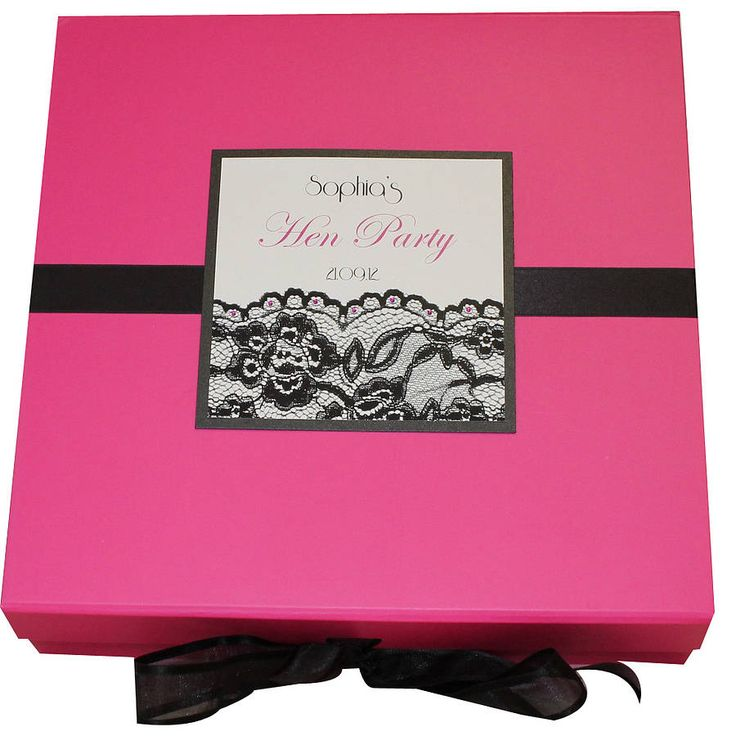personalised hen party memory box by dreams to reality design ltd | notonthehighstreet.com