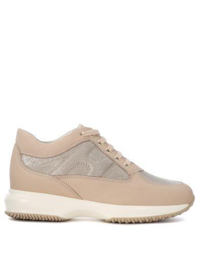 HOGAN Sneaker Hogan Interactive In Pelle Rosa E Tessuto. #hogan #shoes #https: