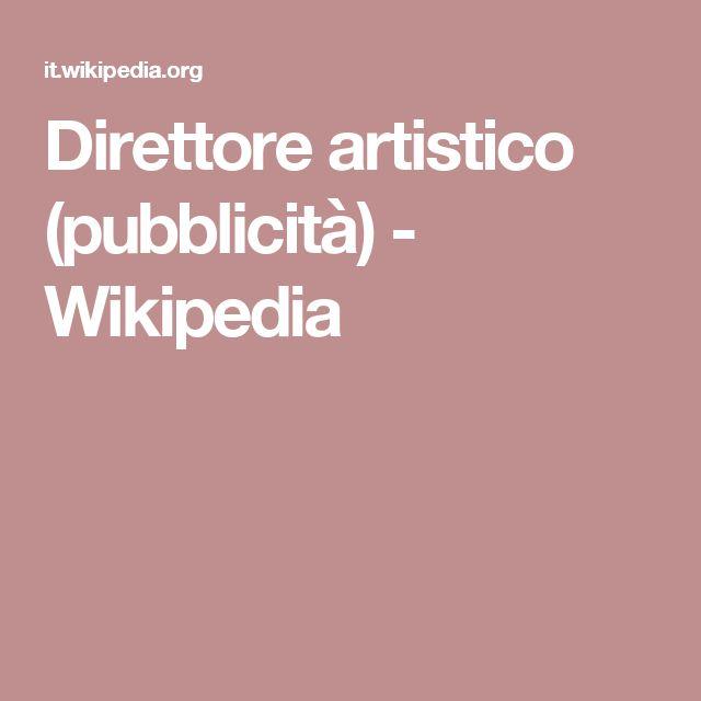Direttore artistico (pubblicità) - Wikipedia