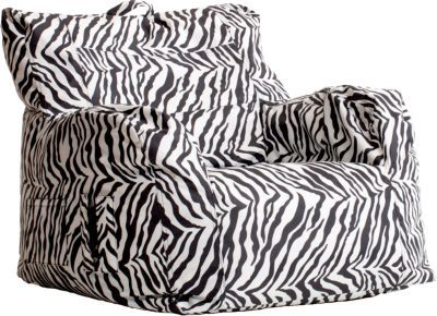 Big Joe Zebra Dorm Bean Bag Chair