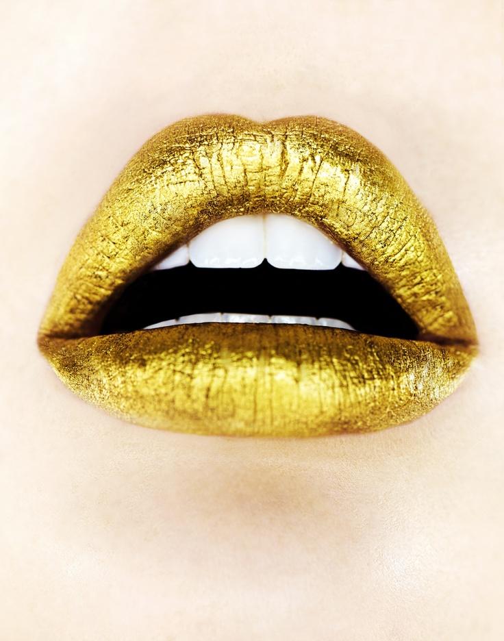 Golden #lips | gouden #lippen